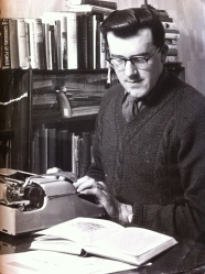 Dad at work in his study in the 1960s while he was also a bobby in Whitby