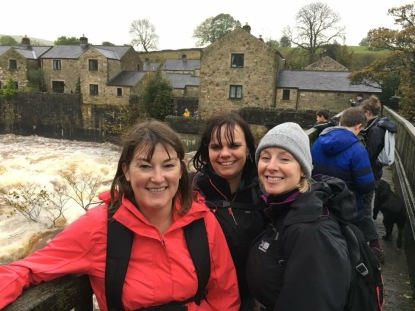 With friends Hayley and Jane at Linton Falls. The power of the current made the bridge shake