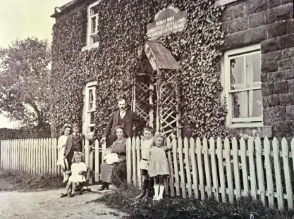 Dad's maternal grandparents Owen a pub in Glaisdale called 'The Three Blast Furnaces'. Dad's Mum is seated, taken in about 1919