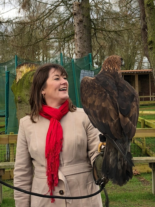 Me with a majestic golden eagle