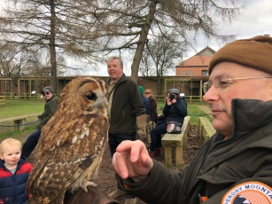 My brother Andrew with a tawny owl
