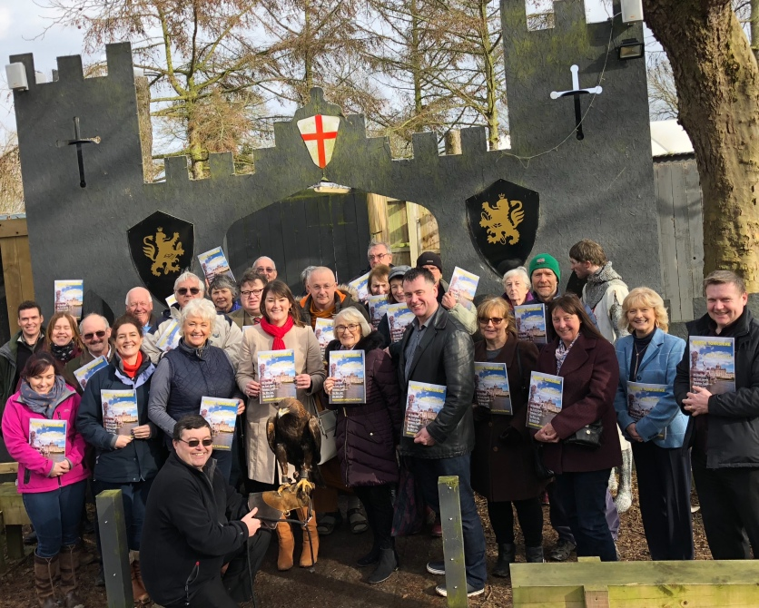 Members of the Tourism Association North Yorkshire proudly hold up the 2018 visitor guide