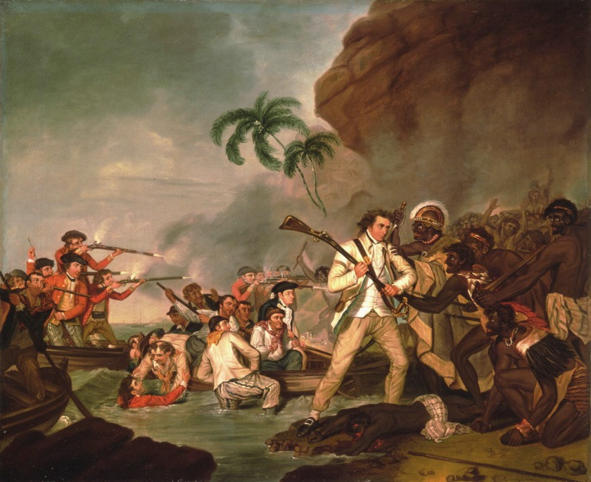 painting Death of Captain Cook