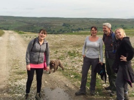 Me with my friends Hayley, Dave, Jane and Barney the dog a bit further down Mastiles Lane just a few months ago. I had no idea I'd been to the same spot 40 years earlier