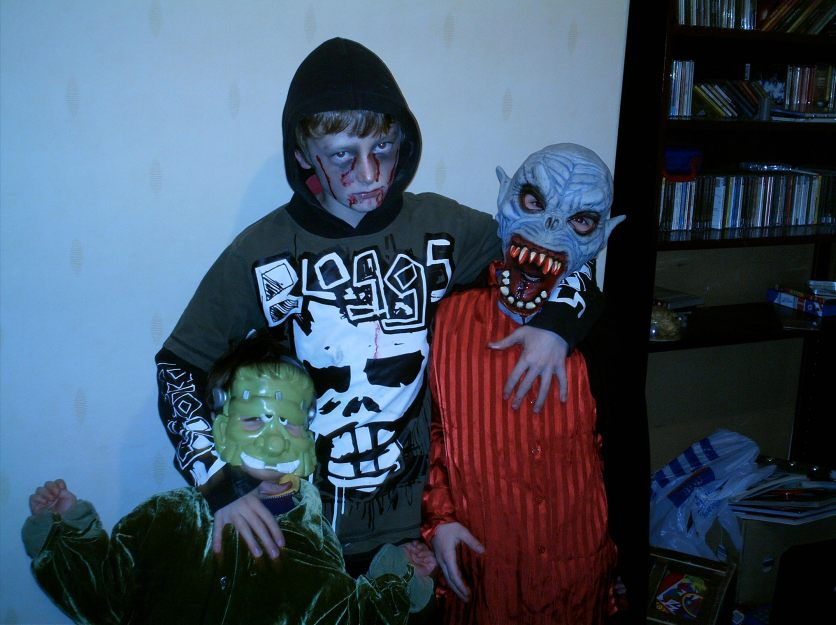 My three boys ready for Halloween in 2004