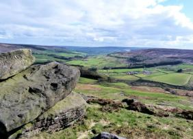 Looking towards Bilsdale from the Wainstones. Picture by Timothy Dunn
