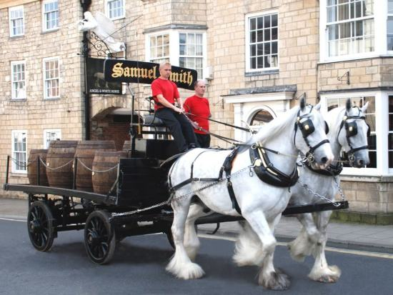 The Samuel Smiths Brewery shire horses still make deliveries five days a week