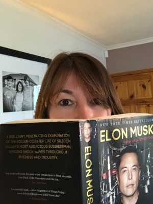 Me with my son's Elon Musk biography