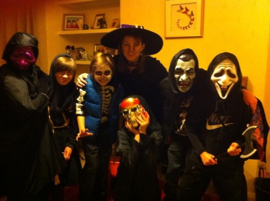 Witchy me with a posse of young ghouls in 2013