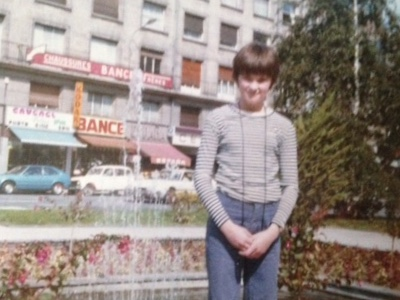 Me, aged 12, in Amiens, northern France