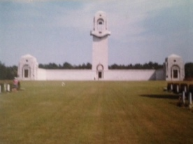 The Australian Memorial recognising servicemen without graves who fell during the battle of the Somme