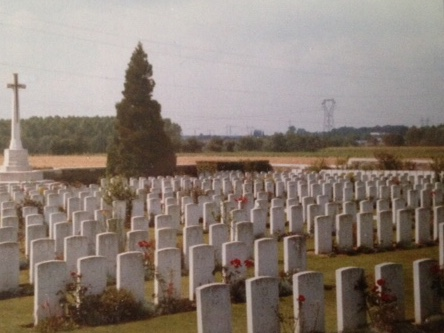 Graves of servicemen who fell in the battle of the Somme