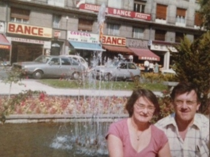 I took this photo of Mum & Dad in Amiens, France, in 1979